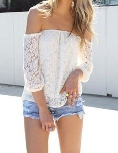 Snowy Lace Top