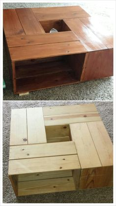 Coffee table made of wooden crates!
