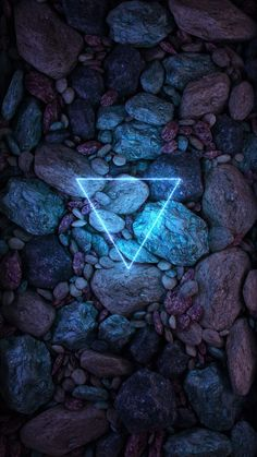 Neon Triangle Stones - iPhone Wallpapers