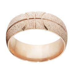 Solid 14k Rose Gold Basketball Ring (Size 13.5), Men's