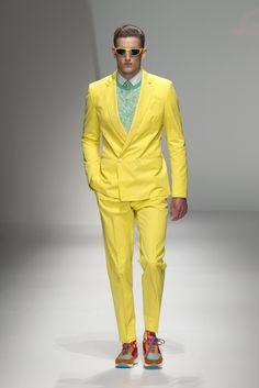 Ferragamo men's yellow suit