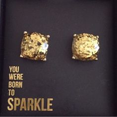 Large Golden Sparkle Stud Earrings Beautiful Large Sparkle Gumdrop Stud Earrings in a Gold color with gold glitter set in the resin stones. Gives an iridescent look. Approximate size of a dime or penny. New. No Trades. Price firm unless bundled. All sales final. Ask questions prior to purchasing. I want happy customers! Thanks for visiting & Happy Poshing! Boutique Jewelry Earrings