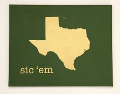 Custom Baylor Sic 'Em Canvas Art