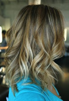 natural blonde hair - close to my natural color but with highlights.