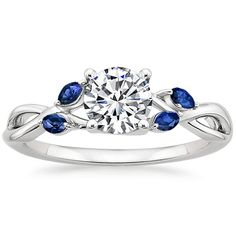 18K+White+Gold+Willow+Ring+With+Sapphire+Accents+from+Brilliant+Earth