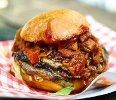 Another reason the go to @streetfeastldn #HawkerHouse is @santoremedio_uk 's Chorizo #Burger - #chorizo chutney chipotle #ketchup  beef #patty and melted #cheese Hot mess warning - you'll need napkins! . . #eatfamous #bestfoodworld#eathotdinner #buzzfeast #feedfeed #forkyeah #EEEEEATS #dailyfoodfeed #foodie #f52grams #foodiegram #fdbloggers #lovefood #forkfeed #instafood #lefooding #huffposttaste #eatmunchies #londonfoodies