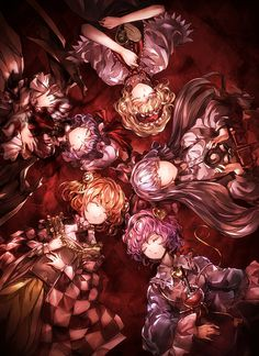 Remilia, Alice, Moukou, Satori, Kosuzu