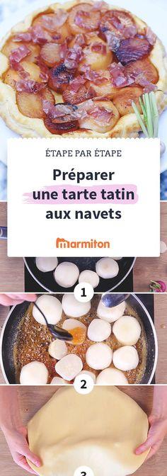 Réussissez facilement cette délicieuse tarte tatin aux navets caramélisés en suivant notre recette en pas à pas photo #marmiton #recette #recettemarmiton #pasapas #recettepasapas #diy #tatin #tarte #navet #legume Parma, Sweet Treats, Food And Drink, Gluten, Vegan, Cooking, Breakfast, Recipes, France