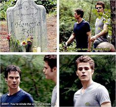 """Kinda.... """"The Vampire Diaries"""" - Damon (Ian Somerhalder) and Stefan (Paul Wesley)"""
