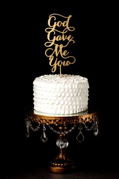 Wedding Cake Topper God gave me you by BetterOffWed on Etsy
