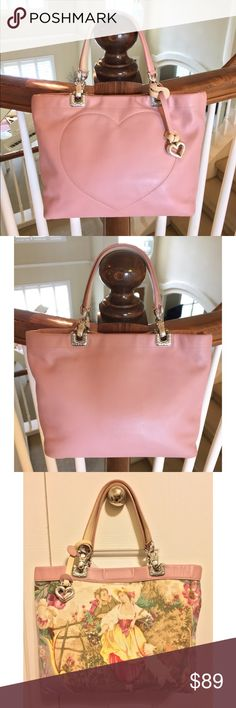 *SPECIAL DEAL* BRIGHTON✨Reversible leather tote Brighton Jodi REVERSIBLE pink leather tote in EXCELLENT CONDITION. This handbag is like having 2 purses in 1 😍! Going for a lace dress with peep toe pumps? Wear this bag on the pink leather side! Feeling bold and wanna make a statement? Wear the purse on the print side! Either way, this tote will become your favorite bag this season 💗. Interior (or exterior 😉) features one zip compartment. 💗 Brighton Bags Totes