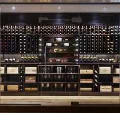 Create the Perfect Bar in Your Own Home Today - Man Cave Home Bar Wine Cellar Basement, Wine Cellar Racks, Wine Rack Wall, Wine Wall, Wine Shelves, Wine Storage, Basement Remodel Diy, Basement Remodeling, Wine Shop Interior