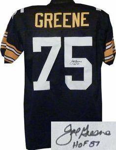Joe Greene Autographed Hand Signed Pittsburgh Steelers Black Prostyle Jersey  HOF 87- JSA Hologram db2946a05
