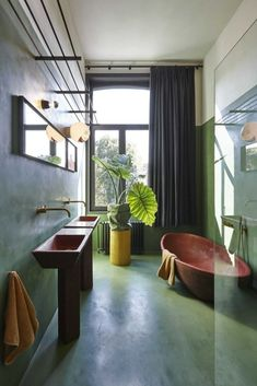 Hey everyone! These bathroom are perfect for the bathroom plants windowless bat. - Hey everyone! These bathroom are perfect for the bathroom plants windowless bathroom plants low li - Bad Inspiration, Bathroom Inspiration, Interior Inspiration, Design Hall, Bad Styling, Guest Bathroom Remodel, Tadelakt, Bathroom Plants, Nature Bathroom