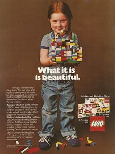 What it is is beautiful #lego #ad #vintage
