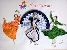Presenting - Tricolor Paper Quilling ideas for India's Independence Day - Tricolor cards, flowers , earrings all using paper strips Independence Day Decoration, Independence Day Special, Indian Independence Day, Music Crafts, New Crafts, Crafts For Teens, Quilling Paper Craft, Paper Crafts, Quilling 3d