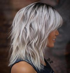 Silver Shag With Black Roots ✖️More Pins Like This One At FOSTERGINGER @ Pinterest ✖️Fosterginger.Pinterest.Com.✖️No Pin Limits✖️
