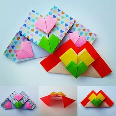 Beautiful Playful Hearts designed by Jose Meeusen. Oragami, Paper Crafts, Origami Hearts, Design, Beautiful, Paper Art, Hearts, Paper Envelopes, Origami Heart