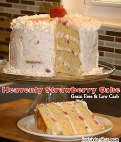Heavenly Strawberry Cake (Grain-Free and Low-Carb) | Satisfying Eats
