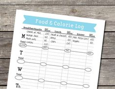 Weekly Food and Calorie Log/Journal - PDF for $3.50 at etsy.com
