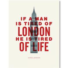 London Samuel Johnson Print - Casafina