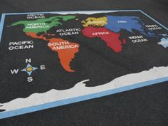 Map of the World - Thermoplastic playground marking
