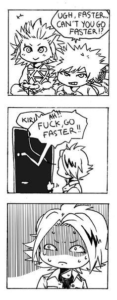 Pfttt! Kaminari, you pervert. Lol | Tumblr