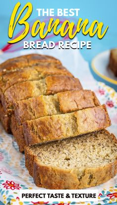 This is our FAVORITE banana bread recipe! Sour Cream Banana Bread, Moist Banana Bread, Banana Bread Muffins, Betty Crocker Banana Bread, Best Dessert Recipes, Desserts, Best Bread Recipe, Breakfast Casserole Easy, Homemade Donuts