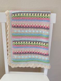 ♥ Crochet Baby Blanket Pattern. This is a beautiful way to add color and texture to your babies nursery. It would be a welcome and sweet gift for a little newborn!  This listing is for a CROCHET PATTERN, not the physical crochet baby blanket.  ♥ Pattern name: Confetti Baby Blanket  ♥ The blanket is made with 8 different colors of worsted weight yarn, and uses simple crochet stitches (sc, hdc, dc). The pattern has detailed instructions with pictures of each step for additional help…