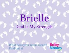 Brielle / God Is My Strength