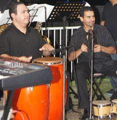 Conga & bongo with my bandmate Wichy