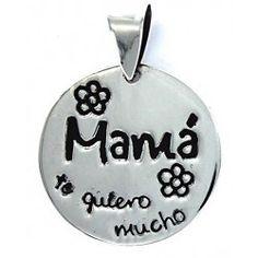 Colgante Mamá te quiero mucho, un regalo perfecto para el día de la madre!
