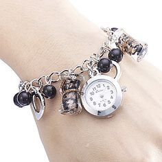 Women's Heart-shaped Style Alloy Analog Quartz Bracelet Watch (Multi-Color) – USD $ 4.49