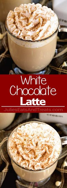 White Chocolate Latte Recipe ~ Delicious, Easy, Homemade White Chocolate Latte Recipe that Will Have You Sipping Lattes Whenever You Want! via @julieseats