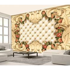 3D Wallpaper Sofa Cushion Flower Pattern 99 Wallpaper Mural Wall Mural Wall Murals Removable Wallpaper