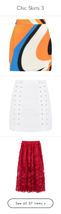 """""""Chic Skirts 3"""" by amyfernandez010 ❤ liked on Polyvore featuring skirts, mini skirts, bottoms, orange, orange mini skirt, short mini skirts, short skirt, multi colored skirt, milly skirt and faldas"""