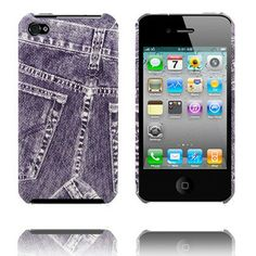Demin (Paars) iPhone 4 Case