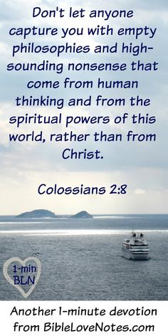 "This 1-minute devotion shares an interesting legend about the word ""Quiz"" and it provides a look into the human mind that makes the message of Colossians 2:8 so important."