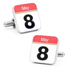 Calendar Cufflink - Mark your significant date