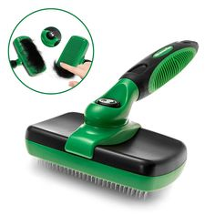 K9konnection Self Cleaning Slicker Brush for Dogs or Cats | Gently Removes Loose Undercoat Hair and Eliminates Tangled Knots Instantly | 100% Pet Safe Stainless Steel Bristles | Large or Small Pets -- Check out this great product.
