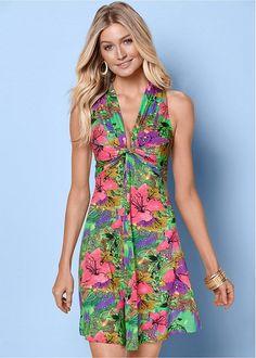 Venus Women's Sleeveless Knot Front Dress - Green, Size S Casual Day Dresses, Summer Dresses, Maxi Dresses, Party Dresses, Formal Dresses, Dresses For Sale, Dresses Online, Front Knot Dress, Formal Dress Shops