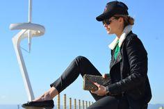 La modelo Elisabeth Mas con Clutch JS Heritage FWCollection13