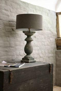 Rustic lamp - slate
