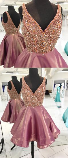 Prom Dresses Beautiful, Sparkly Beads Pink Short Homecoming Dress Party Dress, Looking for the perfect prom dress to shine on your big night? Prom Dresses 2020 collection offers a variety of stunning, stylish ball. Pink Prom Dresses, Grad Dresses, Dance Dresses, Pretty Dresses, Beautiful Dresses, Evening Dresses, Formal Dresses, Sparkly Homecoming Dresses, Popular Dresses