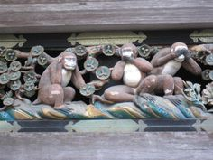 Nikko Japan... The three Monkeys. Hear no evil, speak no evil, and see no evil.