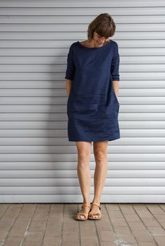 Schnell genähte Sommerkleider Quickly Sewed Summer Dresses Sewing Dress, Sewing Clothes, Belted Shirt Dress, Tee Dress, Diy Fashion, Ideias Fashion, Fashion Tips, Fashion Ideas, Fashion Women