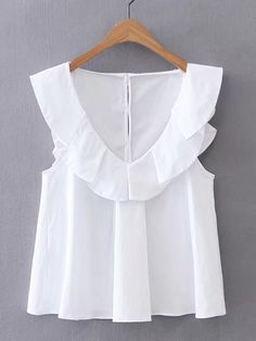 Shop V-Neckline Cap Sleeve Top online. SheIn offers V-Neckline Cap Sleeve Top & more to fit your fashionable needs. Fashion Clothes, Fashion Outfits, Womens Fashion, Fashion Trends, Vintage Clothing, Vintage Outfits, Summer Outfits, Casual Outfits, Diy Kleidung