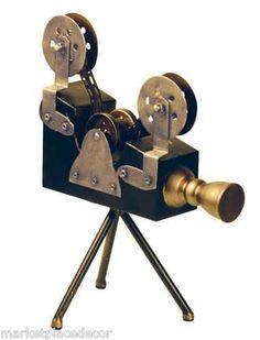 Olivier Camera on Tripod Antique Vintage Style Movie Reel Photography Film Decor | eBay