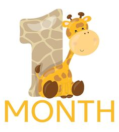 """Month Old Milestone Gifts & Photo Props. """" by AlaskaGirl 1 Month Old Milestones, Safari, Godchild Gift, 1 Month Olds, Party Printables, Cricut Ideas, Photo Props, Scooby Doo, Scrapbooking"""