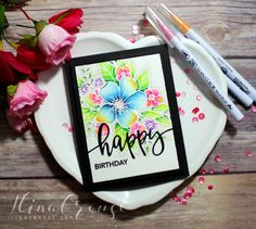 Hi stampers!   I am back again today (well it's almost Saturday ;)), with another card and a video. I shared this watercolored image on my ...